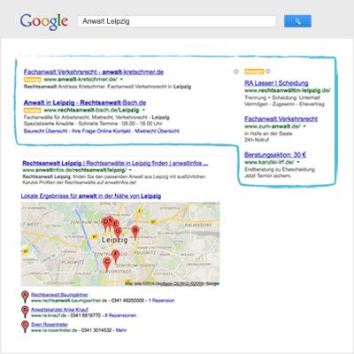Google AdWords erfolgreich mit local101 schalten